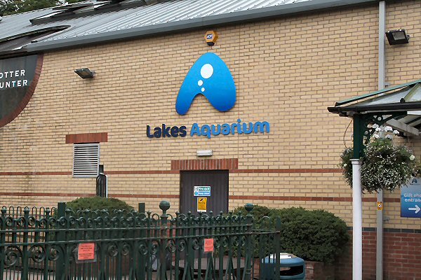 Entrance to the Lakes Aquarium